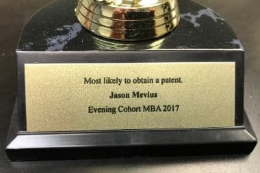 Most Likely to Obtain a Patent - At an end-of-the-year party, my classmates voted to recognize my Innovation skills!